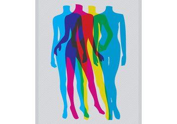 CMYK Bodies - vector #151261 gratis