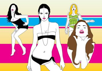 Top Models - vector gratuit #151281