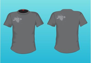 Grey T-Shirt - vector gratuit #151371