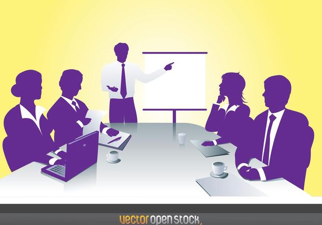 Business Meeting - Free vector #151441