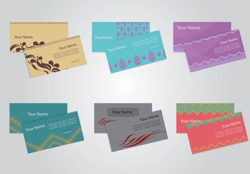 Business Identification Card Vectors - vector #151451 gratis
