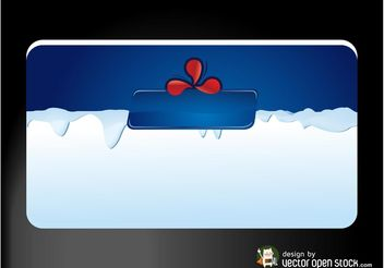 Business Card With Ice - Kostenloses vector #151481