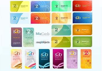 Business Card Mix Pack - Kostenloses vector #151491