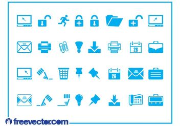 Tech And Business Icons - Free vector #151501