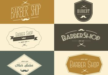 Free Vector Barber Shop Labels - Free vector #151511