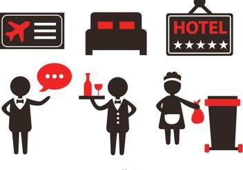 Hotel Service Icons Vectors - Free vector #151641