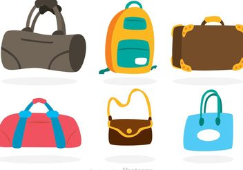 Vector Bag Colorful Icons - Free vector #151681