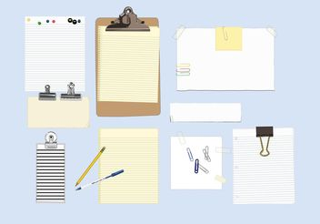 Office Supplies - Free vector #151731