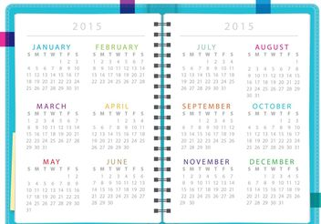 Daily Planner Notebook Vector - vector #151841 gratis