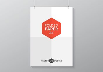 Free Folded Paper Poster Vector - Free vector #151871