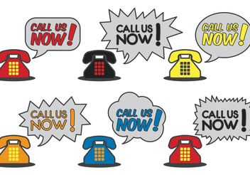 Call Us Now Phone Vectors - Free vector #151931