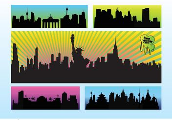 City Vectors - vector gratuit #152001