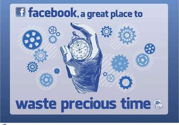 Facebook Time - vector gratuit #152041