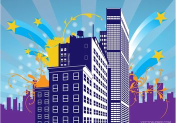 Urban Building Graphics - Free vector #152081