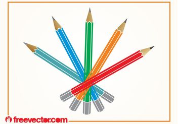 Pencils Vector - vector #152101 gratis