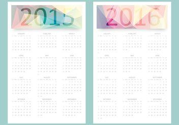 Free Vector Calendar 2015 - 2016 - Free vector #152271