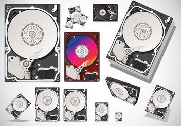 Hard Disk Vectors - vector gratuit #152361