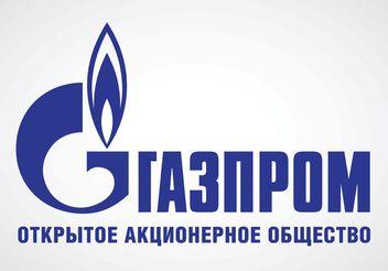 Gazprom Russian Logo - Free vector #152381