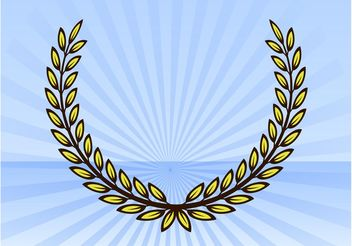 Plant Wreath - vector gratuit #152501