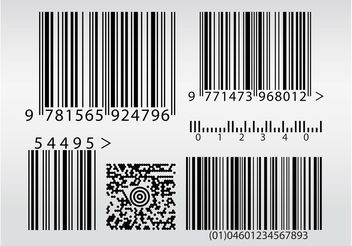 Bar Codes Vectors - vector gratuit #152521