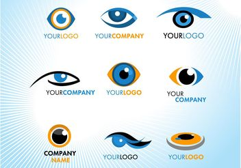 Eye Logos - vector gratuit #152531