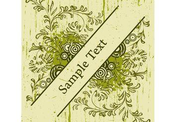 Floral Grunge Design - Free vector #152541