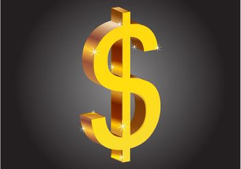Dollar Sign - vector gratuit #152551
