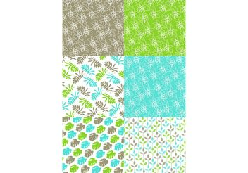 Green Nature Pattern set - Free vector #152581