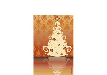 Vintage Christmas Tree Vector - Free vector #152631