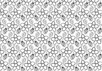 Ladybug Flowers Vector - Free vector #152641
