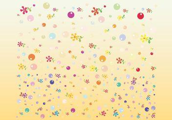 Cute Flowers Vectors - Kostenloses vector #152671