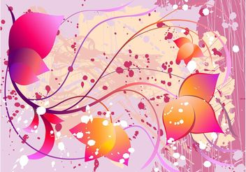 Decorative Vector Flowers - vector #152701 gratis