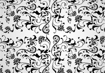 Flowers Print - Kostenloses vector #152781