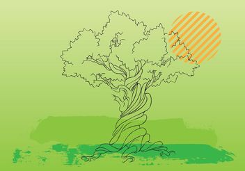 Tree Vector Illustration - Free vector #152811