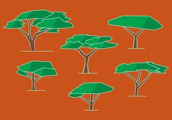 Acacia Tree Vectors - Free vector #152821