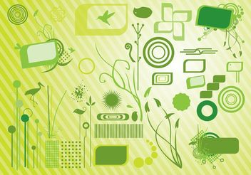 Green Graphics - Free vector #152851