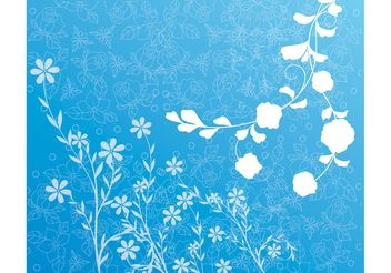 Spring Flowers Background - vector #152951 gratis