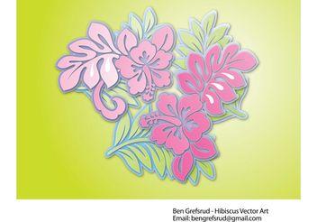 Hibiscus Flowers Vector - Kostenloses vector #152971