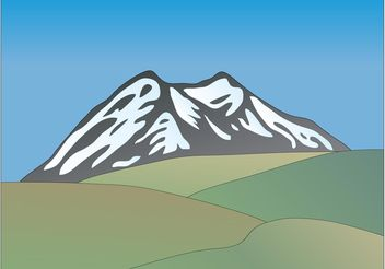 Mountain Landscape Vector - бесплатный vector #153091