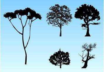 Forest Silhouettes - Free vector #153101