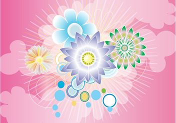 Beautiful Flowers Background - vector gratuit #153121