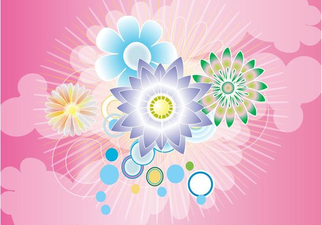 Beautiful Flowers Background - Free vector #153121