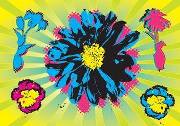 Warhol Flowers - бесплатный vector #153271