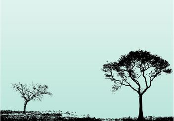 Trees Landscape - Free vector #153311