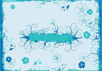 Grunge Flowers Frame - vector #153331 gratis