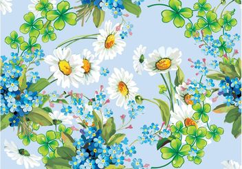 Flowers Vector Frame - бесплатный vector #153341