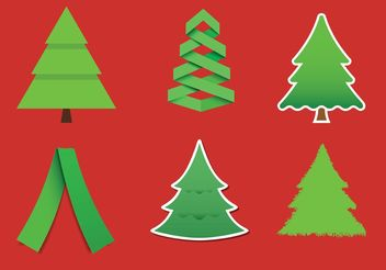 Modern Christmas Tree Vectors - бесплатный vector #153411