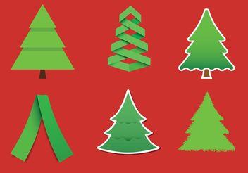 Modern Christmas Tree Vectors - Free vector #153411