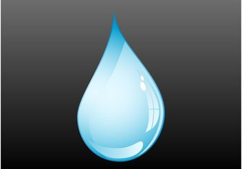 Water Drop Vector - бесплатный vector #153421