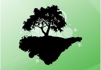 Floating Tree - vector gratuit #153461